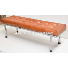 industrial pipe bench leather seat