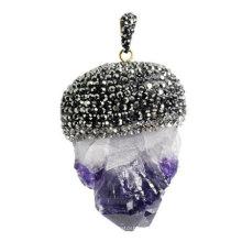 Fashion Natural Gemstone Amethyst Pendant Jewelry