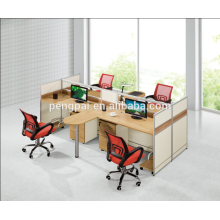 American custom-made model workstation for four seater