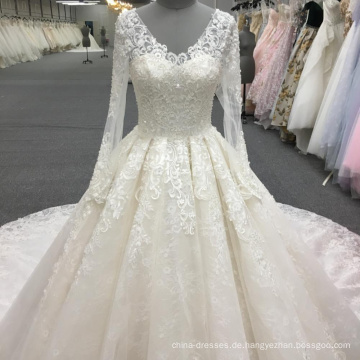 Schwere Perlen Brautkleid Brautkleider