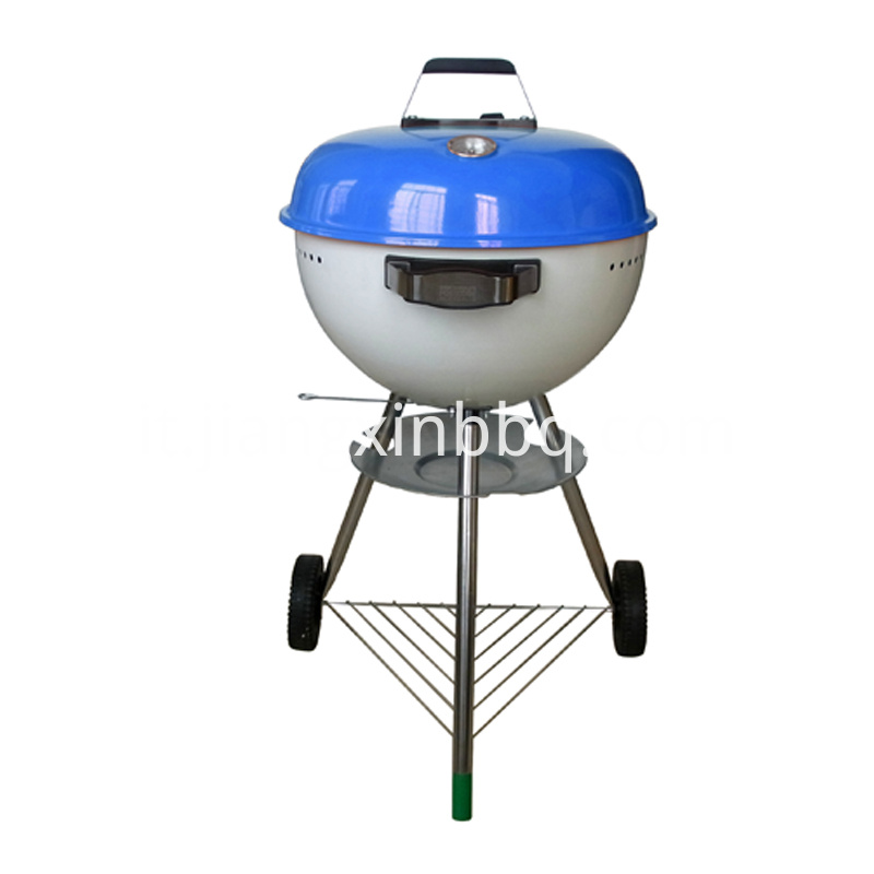 18 Kettle Charcoal Grill Blue Lid View