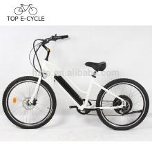 Bicicleta eléctrica del crucero de la ciudad de la bici 26inch 48V 10.2Ah del crucero superior de la playa de ebike 500W hecha en China