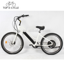 Top ebike 500W plage cruiser vélo électrique 26 pouces 48V 10.2Ah batterie ville cruiser vélo fabriqué en Chine