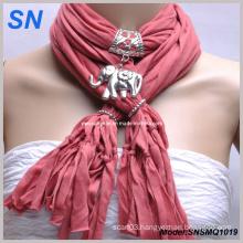 Elephant Pendant Necklace Charm Scarf (SNSMQ1019)