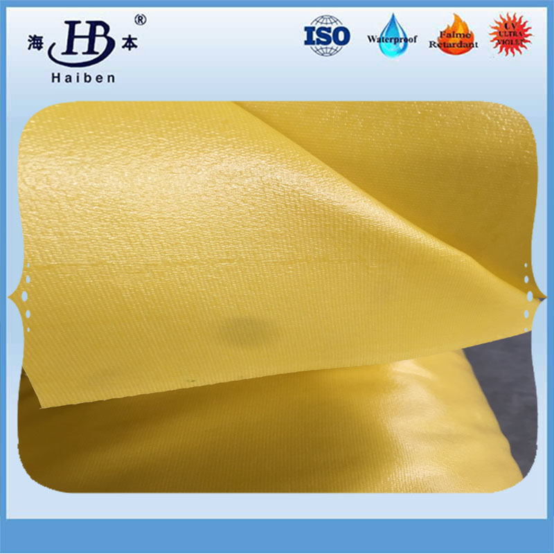 100% polyester waterproof fireproof anti_uv pvc coated tarpaulin
