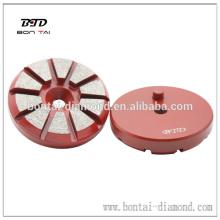 Outils de meulage à diamant en métal rond de 3 pouces