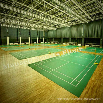 Bwf Certification PVC / Vinyl Badminton Sport Flooring