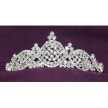Kundenspezifische Hochzeits-Tiara-glänzende Kristallbraut-Krone