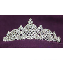 Courroie nuptiale en cristal brillant Tiara personnalisé