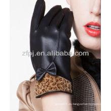 Último diseño micrófono guantes de cuero fabricación
