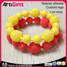 Bracelet de perle faisant des bracelets en gros faits sur commande de perle de silicone de mode pour des femmes