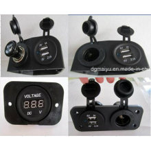 12V-24 V Waterproof Car Cigaretter Lighter Socket/Voltmeter/Car USB Charger Jack/Socket