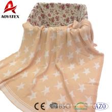 100% algodão malha recebendo rosa cobertor de bebê