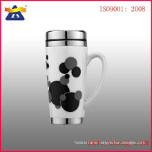 ceramic mug with stainless steel interior