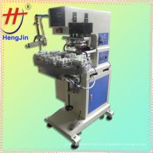 Inkwell 2 cores pneumatic tampa impressão máquina com chama tratamento