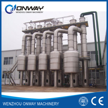 Acero inoxidable Titanium Vacuum Film Evaporation Crystallizer Planta de tratamiento de efluentes Destilación de aguas residuales