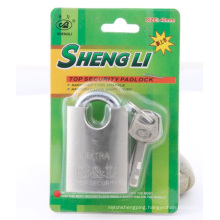 Cheap Factory Nickel Plated Shackle Protected Vane Padlock with SGS
