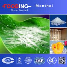 Cristal del mentol de la alta pureza el 99% de la fuente de la fábrica