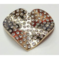 Buckle en alliage de strass Heart Design