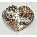 Heart Design Rhinestone Alloy Buckle