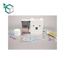 Wholesale Custom Paper Printing Lovely Teddy Bear Storage Box For Needle And Thread