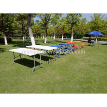 Outdoor Table With Umbrella Hole Furniture Plastic Table Topper HDPE Table