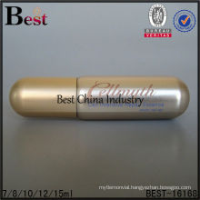 5ml round bottom glass vial bottles with gold cap, empty tube glass bottle, cosmetic bottle supplier