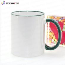 Sunmeta 11oz blank sublimation heat press ceramic color mug