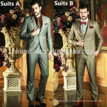Stylish 2014 Two Colors Plaids&Checks One Button Pockets Men's Suit Fabric Men's Western Style Suits For Wedding Business NB0572