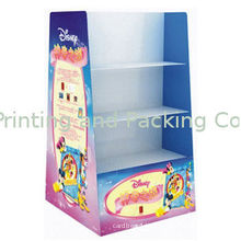 Corrugated Cardboard Floor Display For Toy / Soft Drink , Recyclable