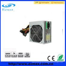 Dongguan fábrica de alta calidad hotselling ATX PC PSU fuente de alimentación de conmutación con ventilador de 14 cm en silencio a menor precio