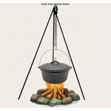 Trípode para acampar Hierro forjado Diseñado para sostener utensilios de cocina de hierro fundido