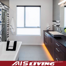 Wood Grain Solid Wood Bathroom Cabinets Vanity (AIS-B018)