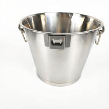 Cubeta de gelo clara de aço inoxidável do champanhe do grande metal de Barware com suporte