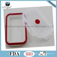 Foldable 800ml Silicone Food Storage Silicone Tiffin Lunch Box Sfb04