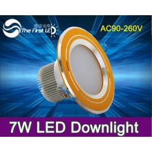 Alto brilho 7W levou lâmpadas de teto, downlight, poder levou