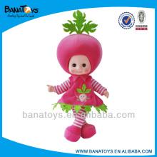 Cute boneca de frutas vestir bonecas de pano