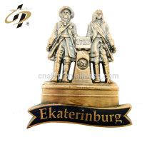 Kundenspezifische 3D besitzen Design Bronze Metall Souvenir Kühlschrank Magnete Abzeichen