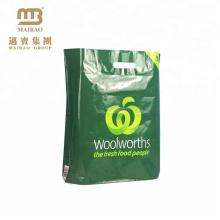 Fabricante de Guangzhou Feito Sob Encomenda Impresso Hdpe Ldpe Bio-degradável D2W Biodegradável Reciclagem Sacos de Compras De Plástico