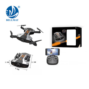 2.4GHz 6 Axis FPV Real-time Transmission Foldable RC Drone with LED Lights