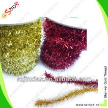 chenille roxo festa ouropel ornamento decoração