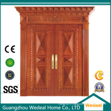 Porte extérieure en bois avec verre pour la sécurité