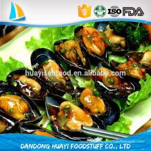 Fornecedor chinês profunda transformação meia shell mexilhão marisco