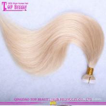 Meilleure vente usine prix gros ruban extensions de cheveux 100% cheveux humains