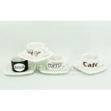 Taza de café y platillo (HJ60017)