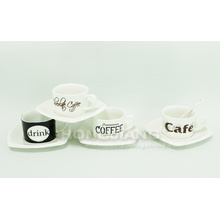 Чашка кофе & блюдце (HJ60017)