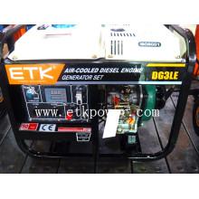 2014 Новый белый портативный дизельный генератор (цифровая панель)