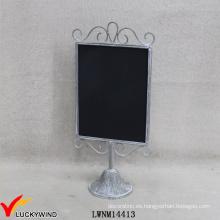 Vintage Grey Metal Enmarcado Signos Función Small Handheld Chalkboard