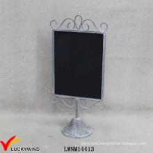 Vintage Gray Metal Framed Signs Function Small Handheld Chalkboard