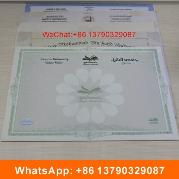 Document de sécurité Anti-Fake Certificate avec Watermark Paper Printing